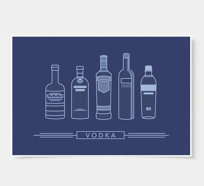 bar poster - indigo - vodka