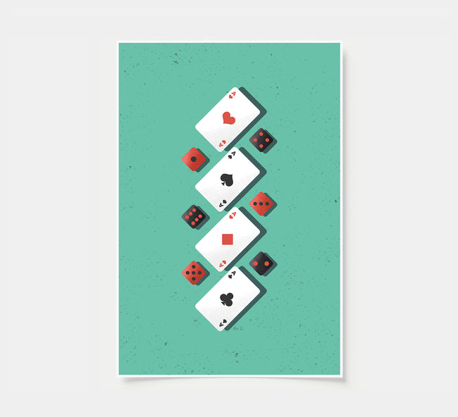 Aces & Dices - Game Room Poster