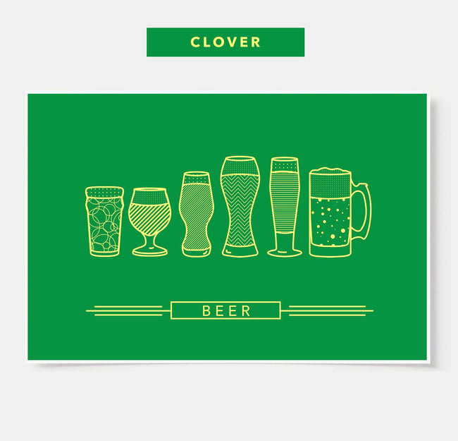 St. Patrick's Day -  Beer Glasses - Bar Poster (Limited Availability)