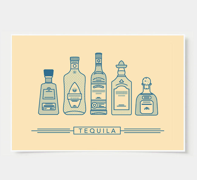 bar poster - ivory - tequila
