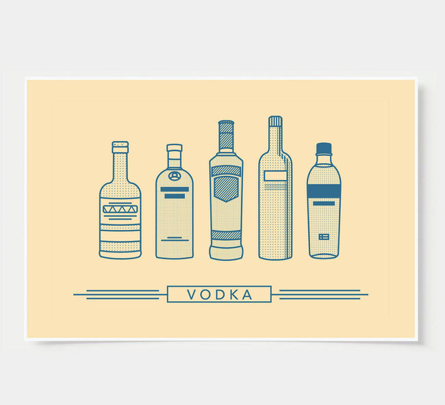 bar poster - ivory - vodka