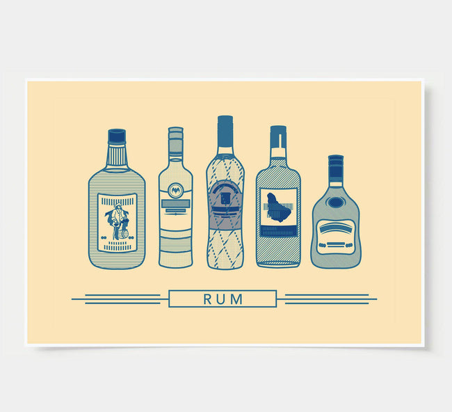 bar poster - ivory - rum