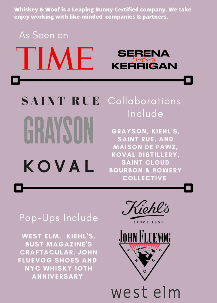Whiskey & Woof Press and Partner Collaboration include Time.com & Keihl's