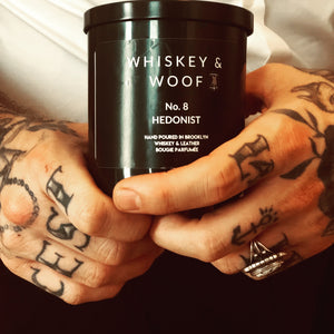No. 8 HEDONIST: Whiskey & Leather Scented Candle