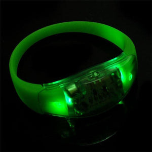 Promotional Custom Logo LED Voice Control Lighted Wristbands