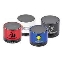Load image into Gallery viewer, Custom Promotional Bolt Round Bluetooth Speaker