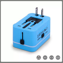Load image into Gallery viewer, Custom Logo Promotional Travel Adapter 2 USB + Wall Charger for EU/UK/AU/US & Asia
