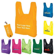 Load image into Gallery viewer, Promotional Custom Logo Folding Tote Bags In a Pouch