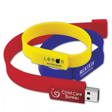 Custom Logo Silicone Wristband Slap Band Bracelet Pendrive USB Stick Flash Drives