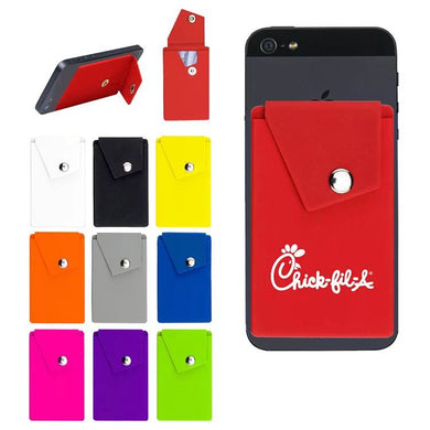 Promotional Custom Logo Adhesive Cell Phone Wallets With Botton