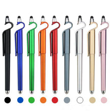Load image into Gallery viewer, Custom Logo 3 in 1 Mobile Phone Holder Stand Pen Stylus Touch Screen Capactive Pen