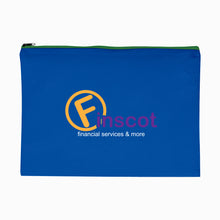 Load image into Gallery viewer, Promotional Custom Logo Woven Document Sleeve With Zipper