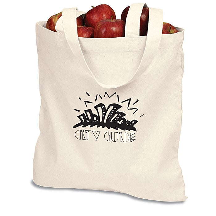 Promotional Custom Logo Cotton Sheeting Natural Economy Tote