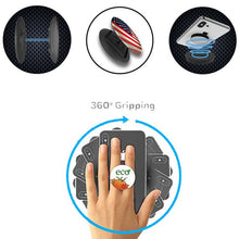 Load image into Gallery viewer, Blank Black Pop Grip Holder Nuckees for DIY, Printing or Customization - 100 Pack