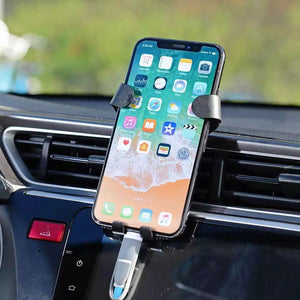 Promotional Custom Logo Universal Air Vent Gravity Auto Lock Metal Car Phone Holder