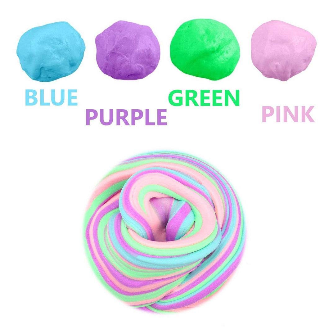 Promotional Custom Logo 10oz Jumbo Soft Floam Slime Putty Stress Relief Toy Scented Sludge 4 Colors