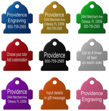 Load image into Gallery viewer, Providence Engraving Pet ID Tags | 8 Shapes & Colors to Choose From | Dog Cat Aluminum