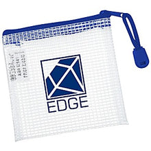 "Load image into Gallery viewer, Custom Logo Promotional PolyWeave Zippered Pouch - 4"" x 4"""