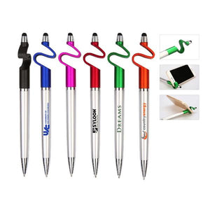 Custom Logo Creative Stylus Pen With Phone Holder