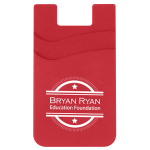 Promotional Custom Logo Dual Pocket Silicone Phone Wallet