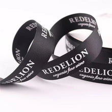 Load image into Gallery viewer, Custom Logo Imprinted Premium Satin Ribbons - 100 Yards