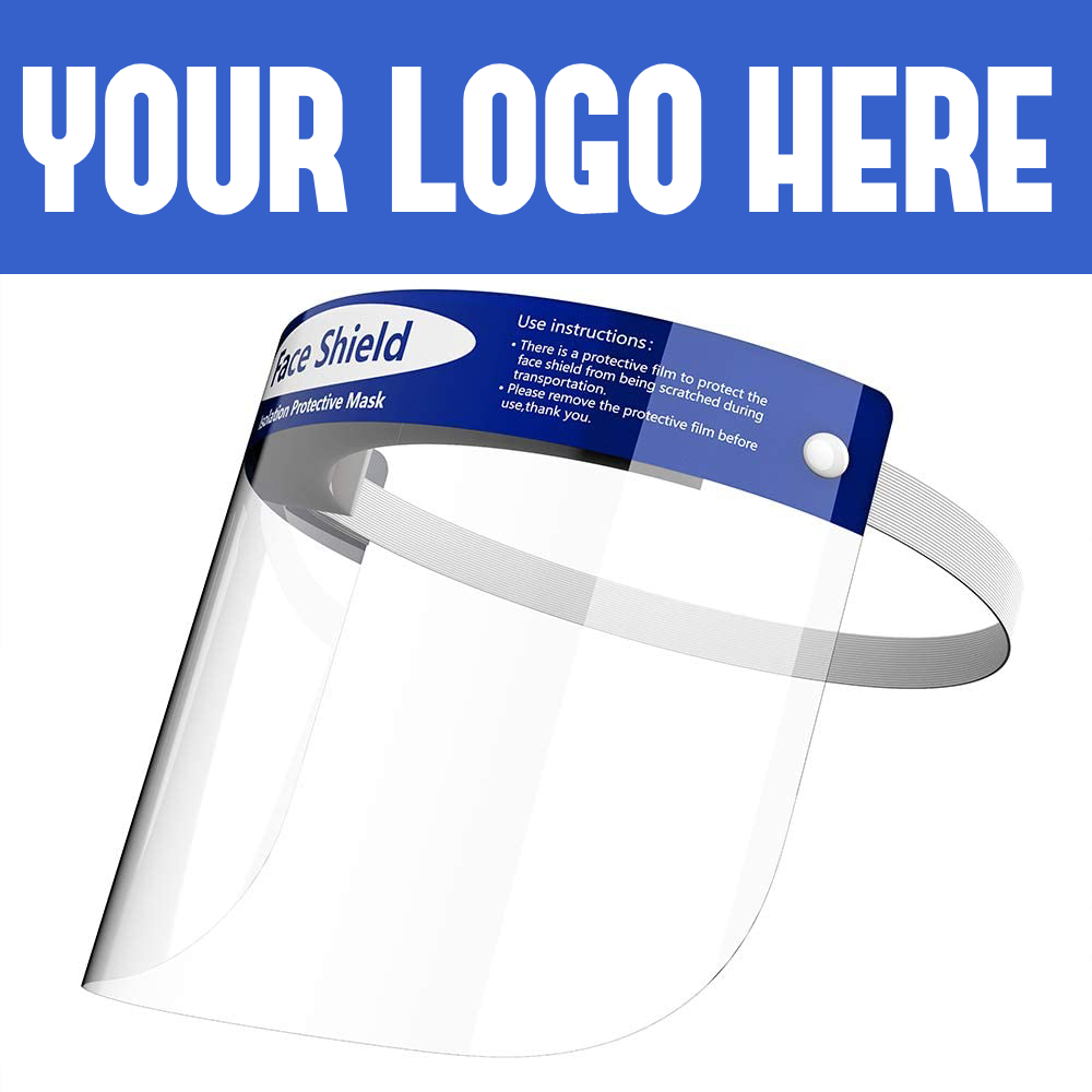 Custom Logo Face Shields Full Protection Reusable Face Cover With Your Logo