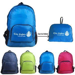 Promotional Custom Logo Folding Backpacks Custom Outdoor Backpacks