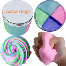 Load image into Gallery viewer, Promotional Custom Logo 10oz Jumbo Soft Floam Slime Putty Stress Relief Toy Scented Sludge 4 Colors