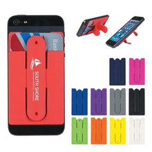 Load image into Gallery viewer, Custom Logo Silicone Phone Wallet With Stand