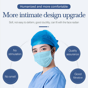 Custom Logo Disposable Face Masks 3 Layer Medical Masks 5 Pack With Your Logo On Package