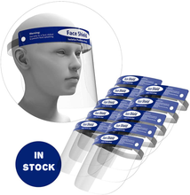 Load image into Gallery viewer, Bulk Face Shields Full Protection Reusable Face Cover One Size Fits All
