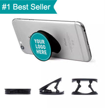 Load image into Gallery viewer, Cheap Promotional Custom Logo Foldable Phone Grip Stand