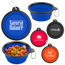 Load image into Gallery viewer, Promotional Custom Logo Collapsible Travel Dog Bowls Portable Food & Water Bowls