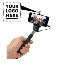 Load image into Gallery viewer, Popular Custom Logo Selfie Sticks With Cable