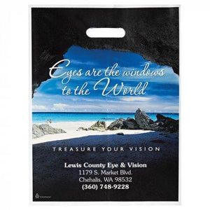Custom Full Color Imprint Die Cut Plastic Bags