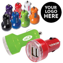 Load image into Gallery viewer, Custom Logo Promotional Dual Port USB Car Charger