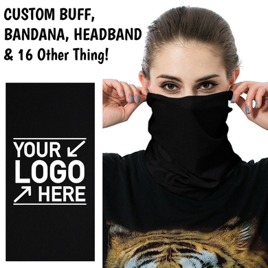 Custom Logo Multi Purpose Buff Bandana Protects From Dust, Pollution And Cold - One Size Fits All