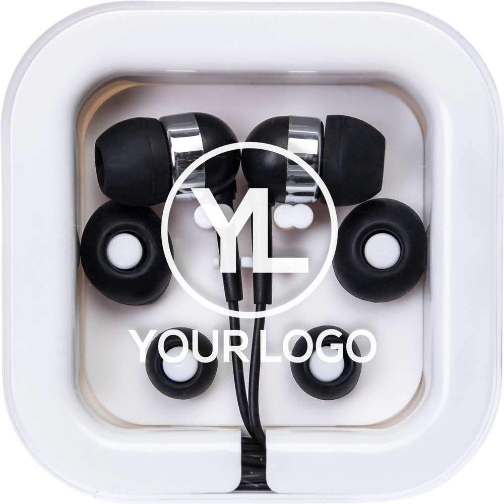 Custom Promotional Earbuds Colored In Square Case