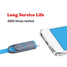 Load image into Gallery viewer, Custom Logo 2-In-1 USB Retractable Mobile Charging Cable