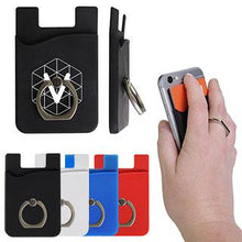 Load image into Gallery viewer, Promotional Custom Logo Smart Universal Mobile Wallet Ring Holder