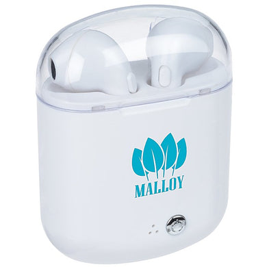 Custom Logo Promotional Wireless Custom Earbuds With Rechargeable Case