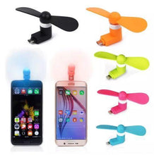 Load image into Gallery viewer, Custom Logo Mini Portable Power Micro Cool Fan 2 in 1 For iPhones And Android Phones