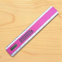 Load image into Gallery viewer, Promotional Custom Logo 12 Inch Ruler with Calculator Two in One Functionality for Schools, Businesses, Daily Use
