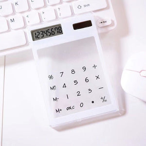 Promotional New Transparent Calculator With Premium Logo Display