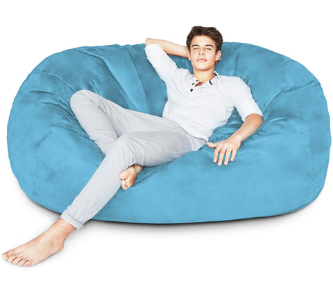 Light Blue Bean Bag Chair 2