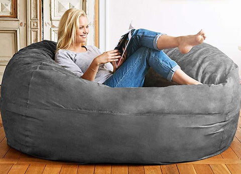 Gray Bean Bag Chair 3