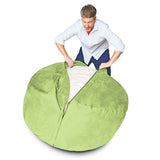Bean Bag Chair, Light Green / 3FT