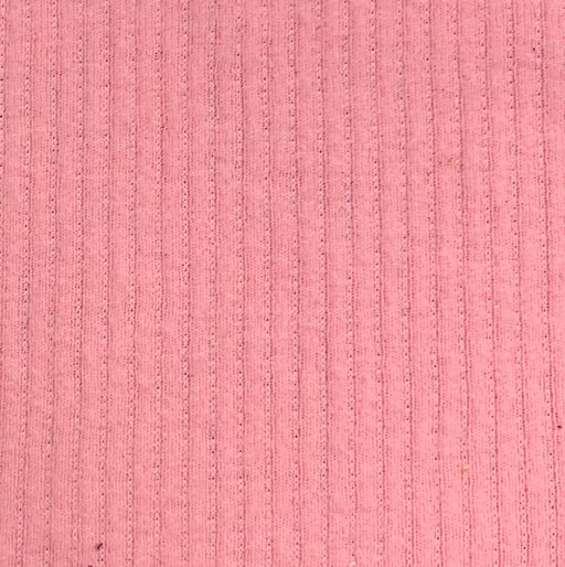 "Pink 1/8"" Ribbed Stretch Terry  Knit Fabric - SKU 2752"