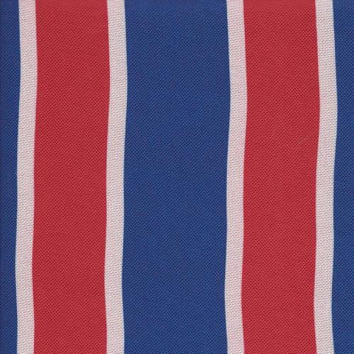 Red & Royal ProTuff Regimented Stripe Print Waterproof Canvas Woven Fabric