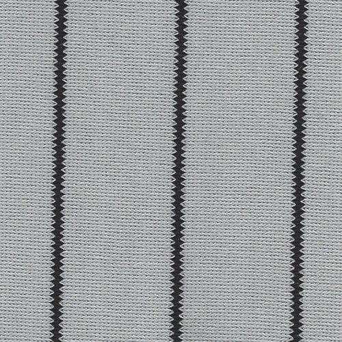 Team Spirit Black Baseball Stripe Knit Fabric